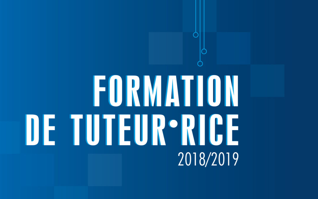 Formation Tuteur-rice 2018-2019