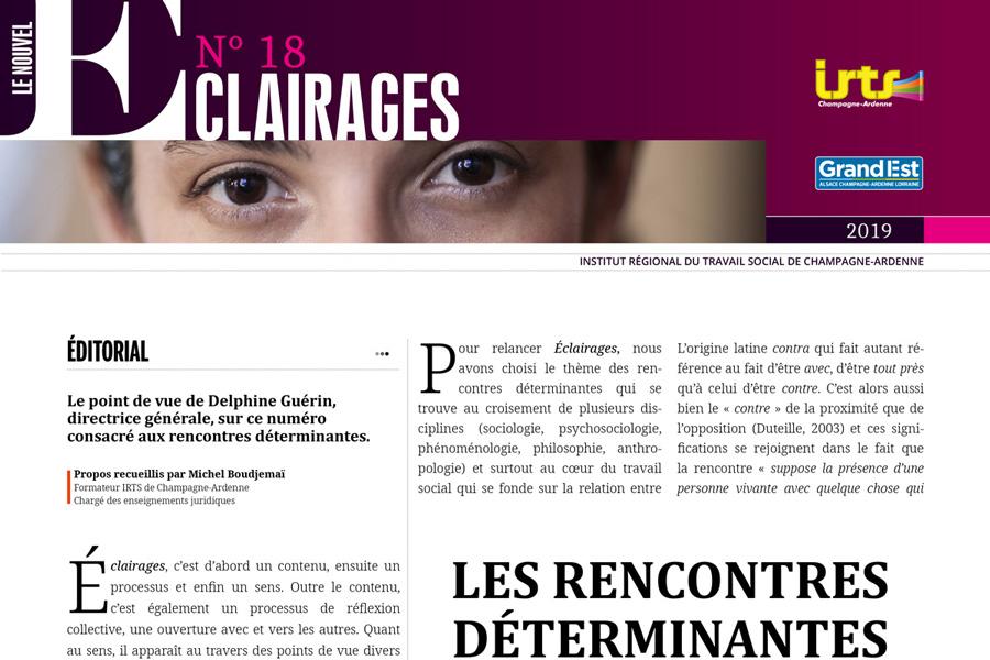 Le nouvel Éclairages, revue de l'IRTS CA n°18 est sortie !