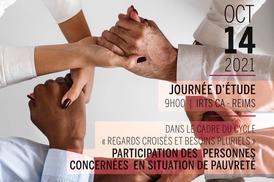 Journée d'étude 14 OCT. 2021 : participation des personnes concernées en situation de pauvreté